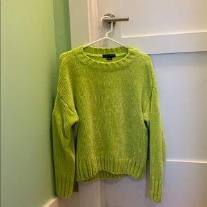 Sanctuary crew neck neon green super soft sweater